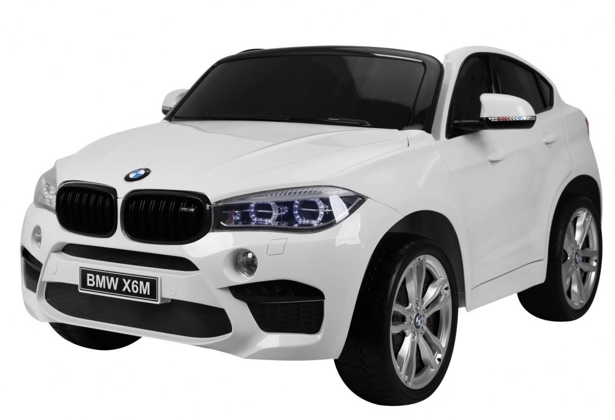 Elektrické autíčko BMW X6M 2 os. XXL - bílé