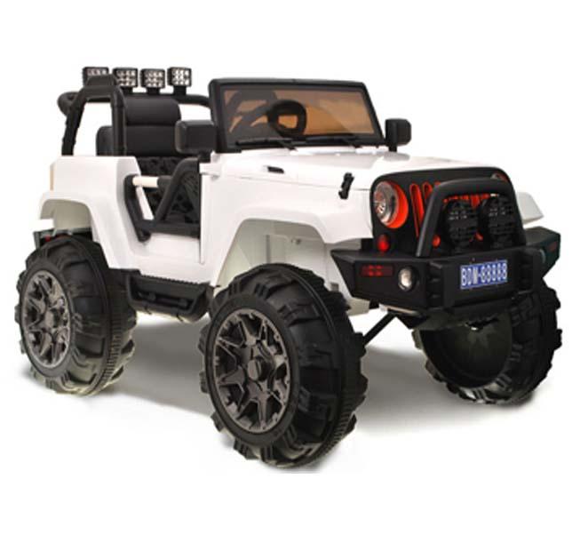 iMex Toys Elektrické autíčko džíp wrangler 2.4GHz - bílé