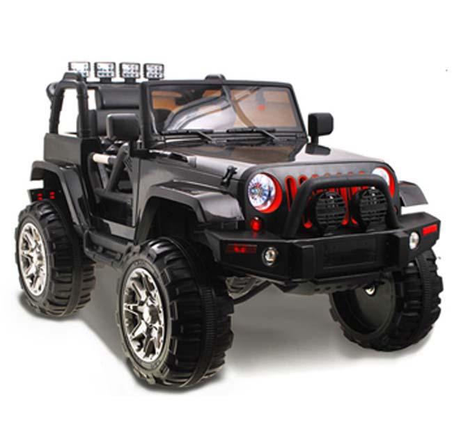 iMex Toys Elektrické autíčko džíp wrangler 2.4GHz - černé