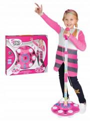 LED Mikrofon se stojanem pro holky
