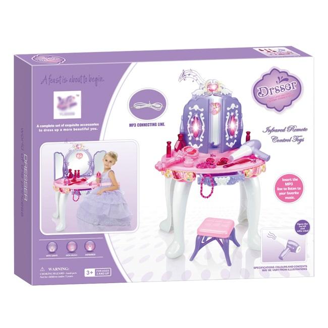 Dětský kosmetický stolek pro dívky s možností MP3