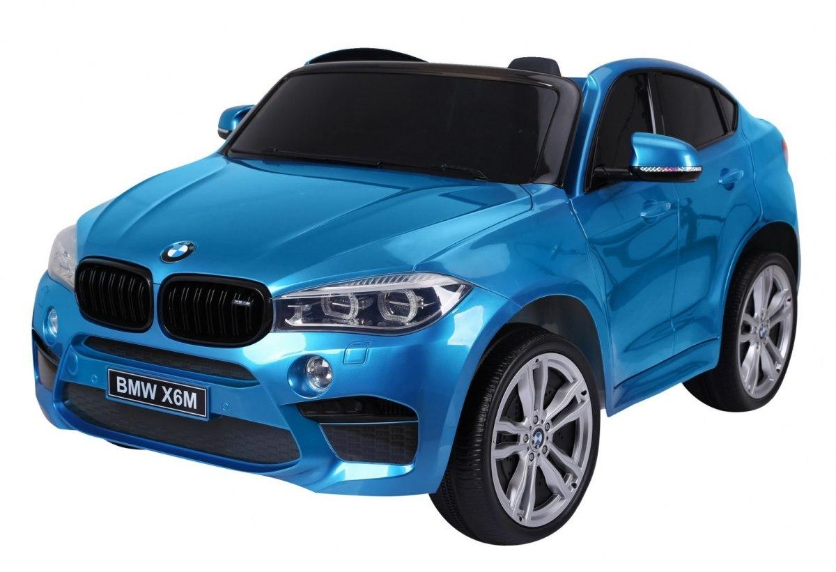 Elektrické autíčko BMW X6 M, 2 místné lakované - modré