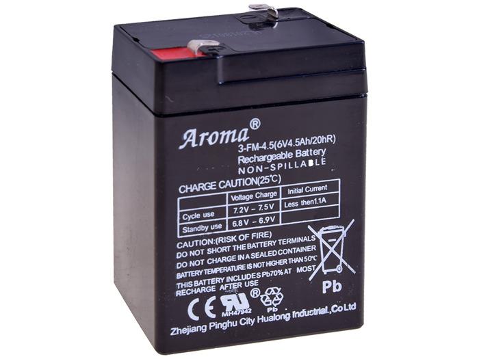Gelová nabíjecí baterie 6 V - 4,5 Ah