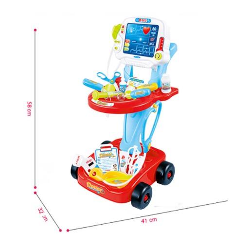 Lékařský vozík s měřením EKG