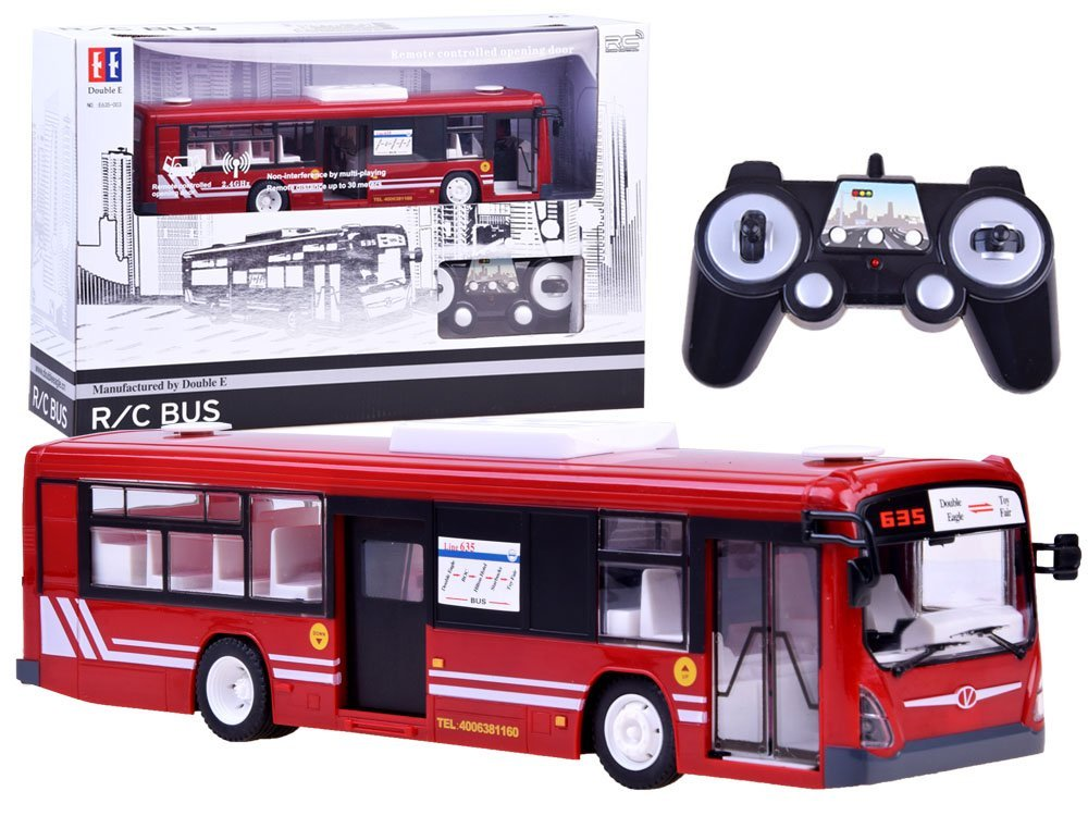 RC Autobus s otevíráním dveří - červený