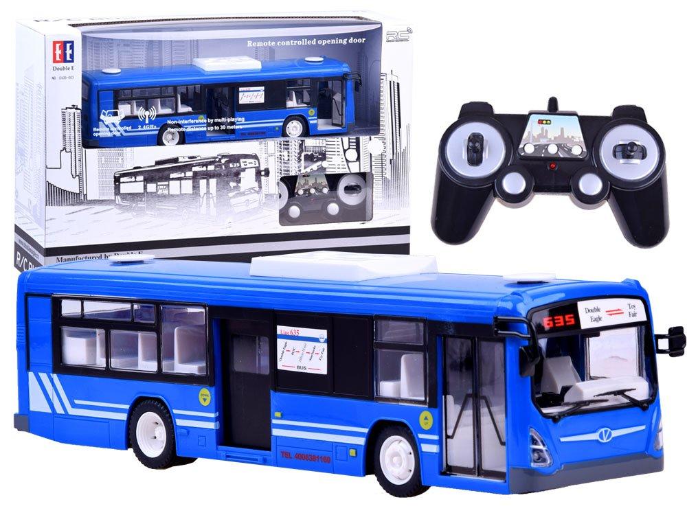 RC Autobus s otevíráním dveří - modrý