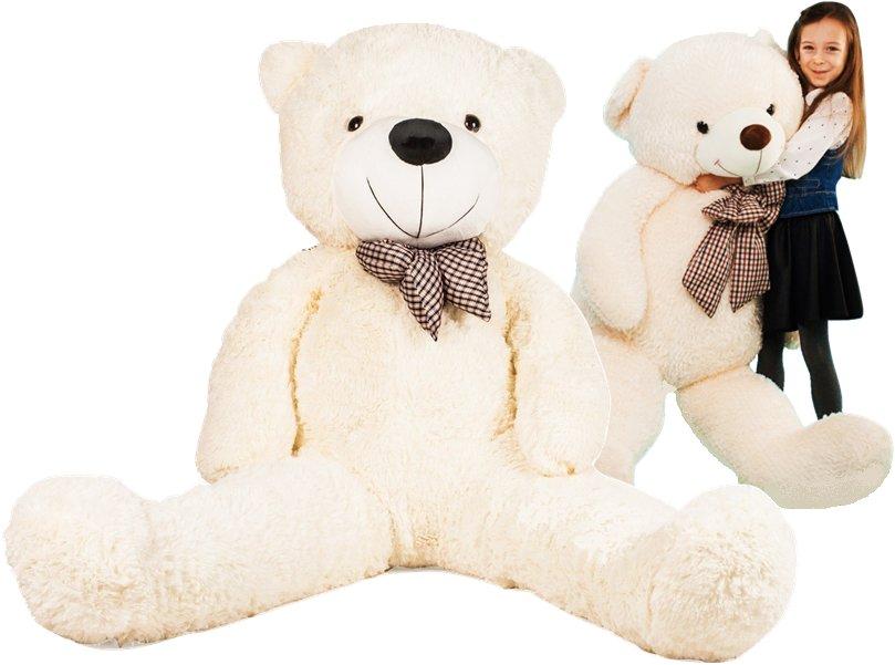 HračkyZaDobréKačky plyšový medvěd 150 cm bílý