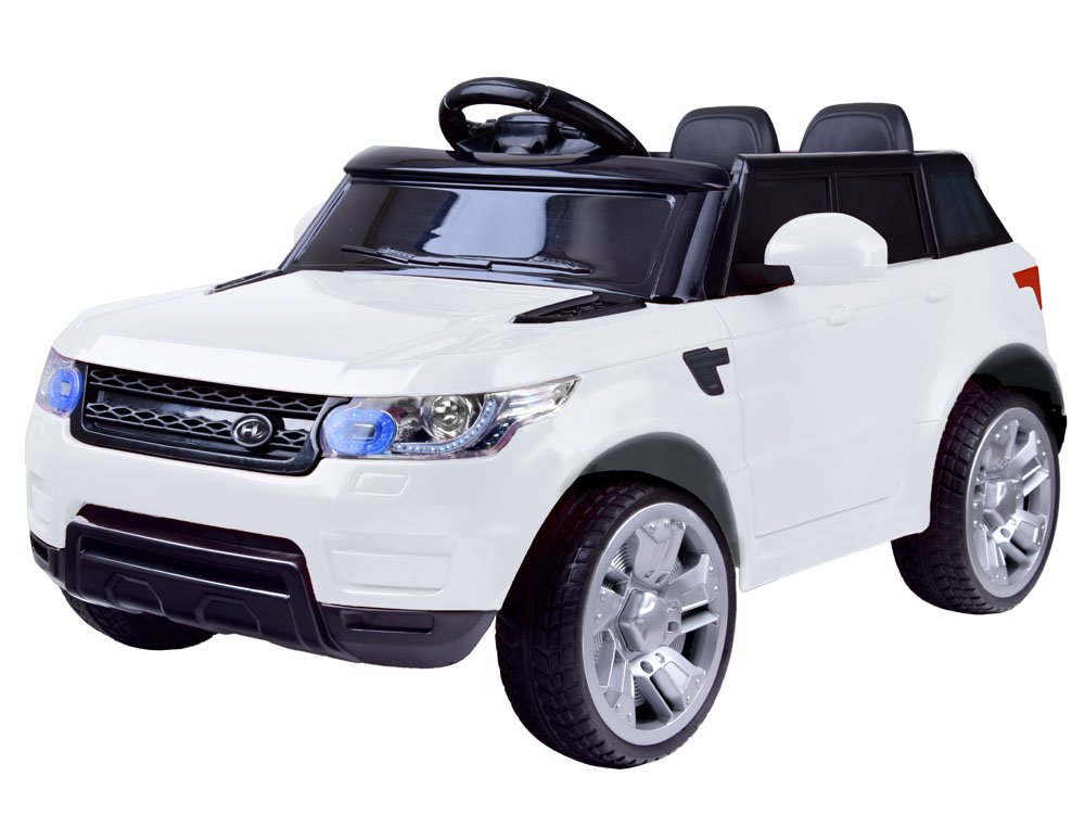 Elektrické autíčko Land Rapid Racer - bílé EVA