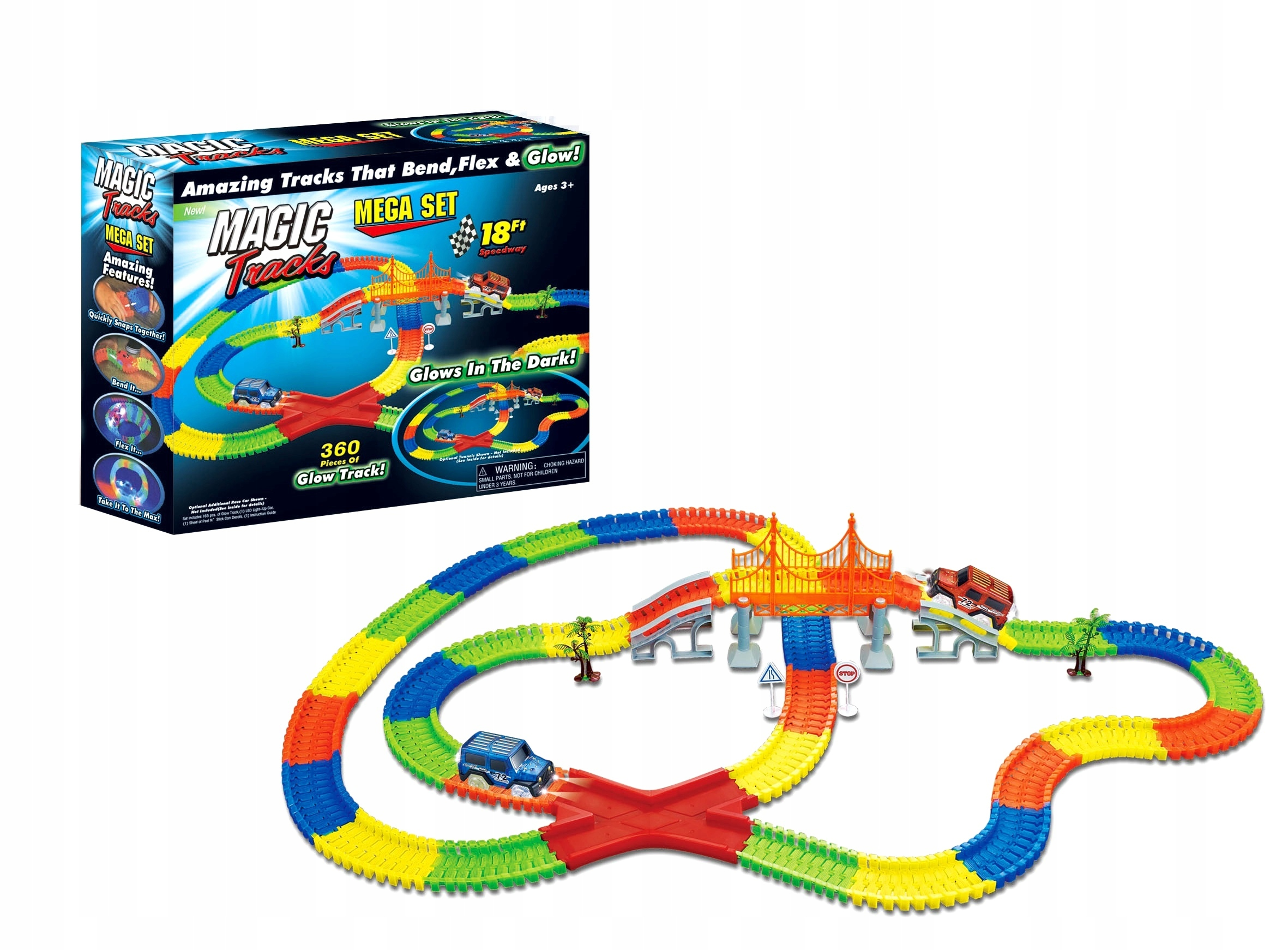 Magic Tracks Svítící autodráha 360 dílů