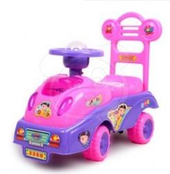 Odrážedlo a chodítko, růžové autíčko
