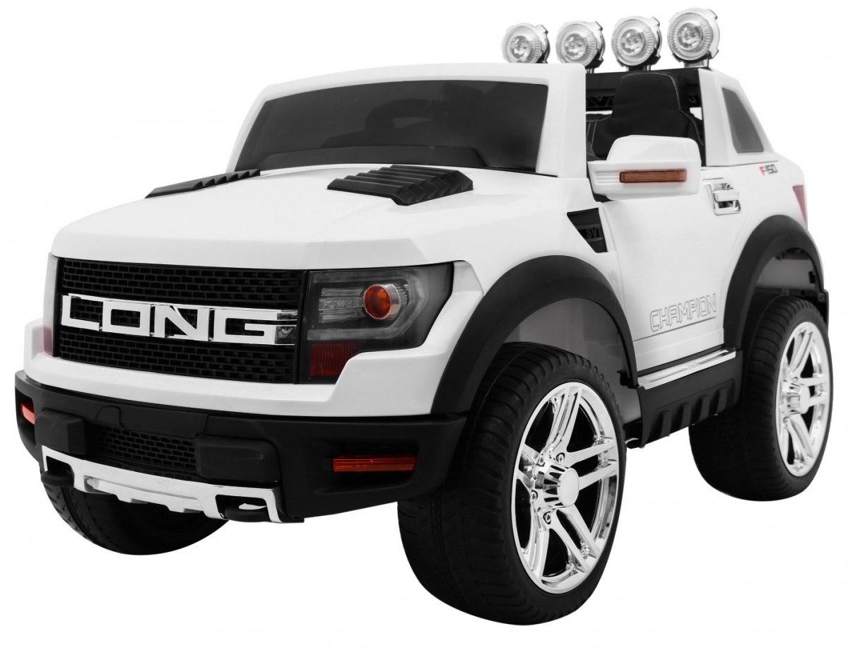 Dětské elektrické autíčko LONG - bílé
