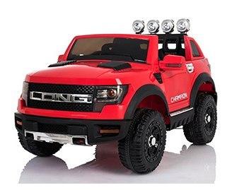 Dětské elektrické autíčko LONG - červené