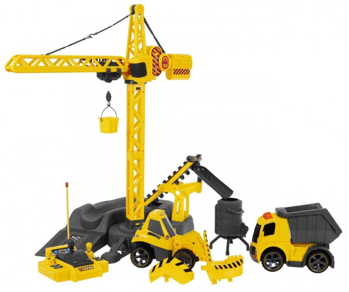 RC jeřáb se stavebními vozidly