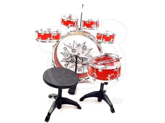 Dětská bicí souprava – bubny pro kluky - červená
