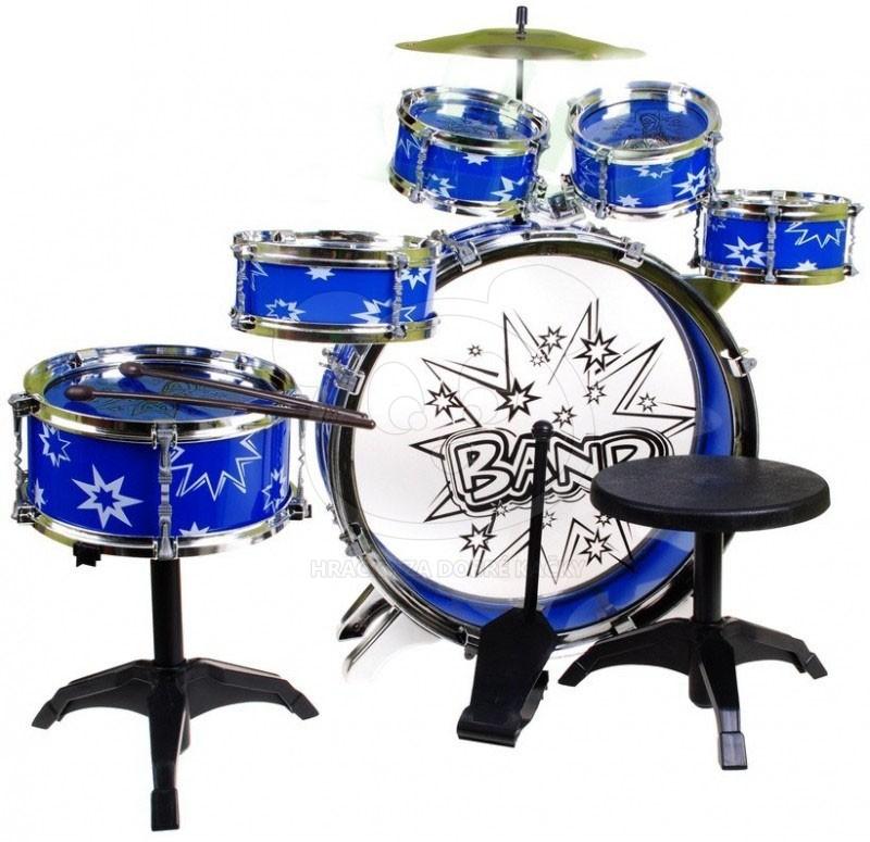 Dětská bicí souprava – bubny pro kluky - modrá