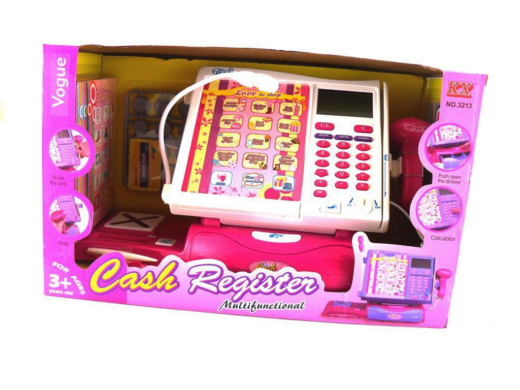 Dětská elektronická pokladna s dotykovým panelem a čtečkou