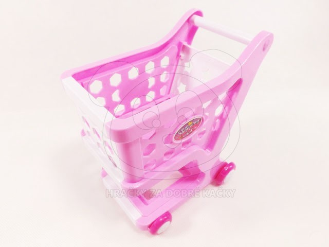 Dětská elektronická pokladna s košíkem a vozíkem