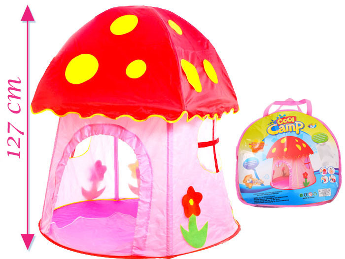Dětský stan ve tvaru muchomůrky