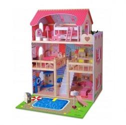Doris dřevěný domeček pro panenky - 2 patrový
