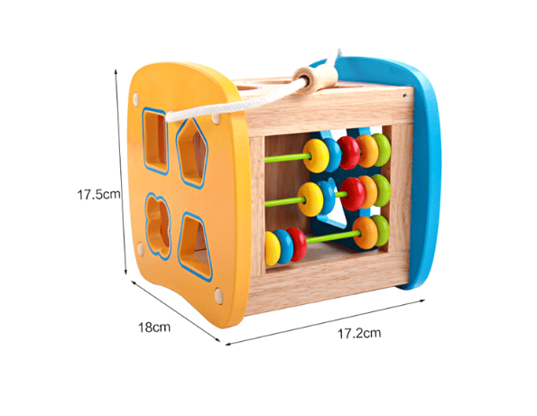 DORIS Multifunkční vzdělávací kostka dřevěná