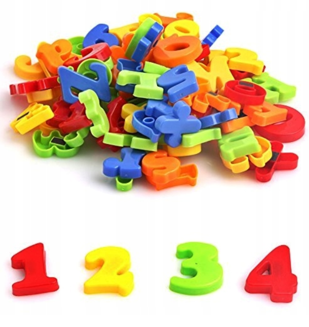 Magnetická písmena a číslice - 52 kusů