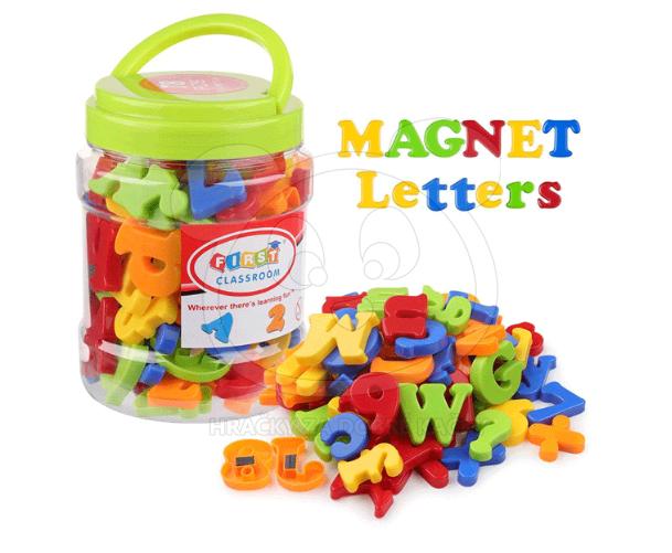 Magnetická písmena a číslice - 78 kusů - Interaktivní a naučné ... adbd3fab306