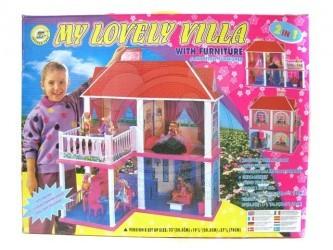 Domeček pro panenky s 5 pokoji a terasou