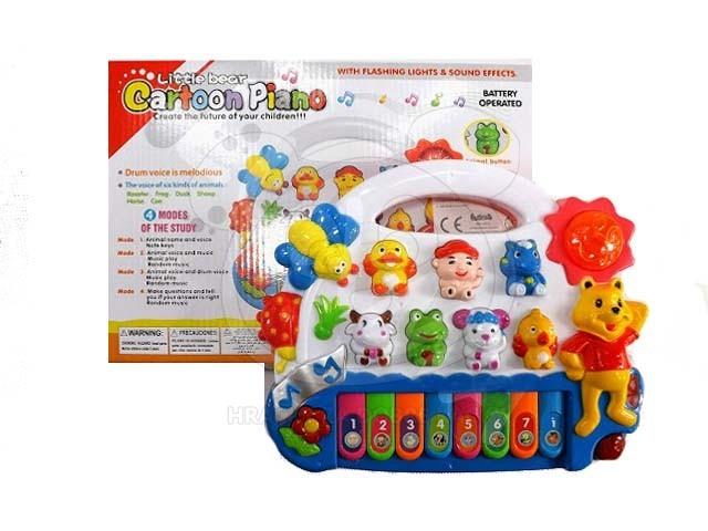 Dětské pianko se zvuky zvířátek, výuka angličtiny