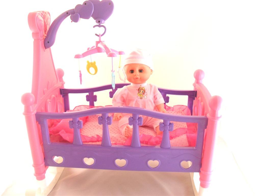 Kolébka pro panenky s panenkou 53 cm