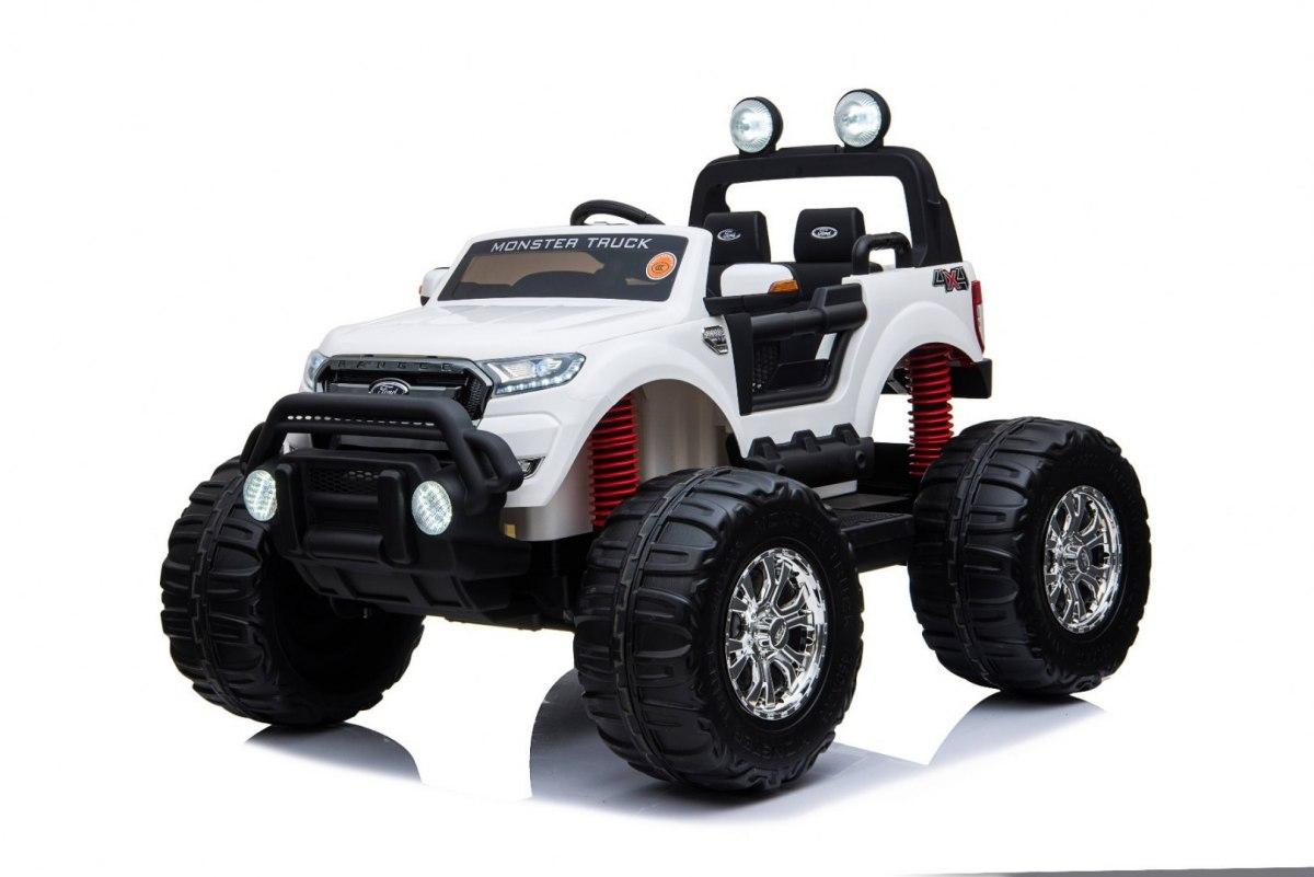 Elektrické autíčko Ford Ranger Monster Truck 4x4 - bílé