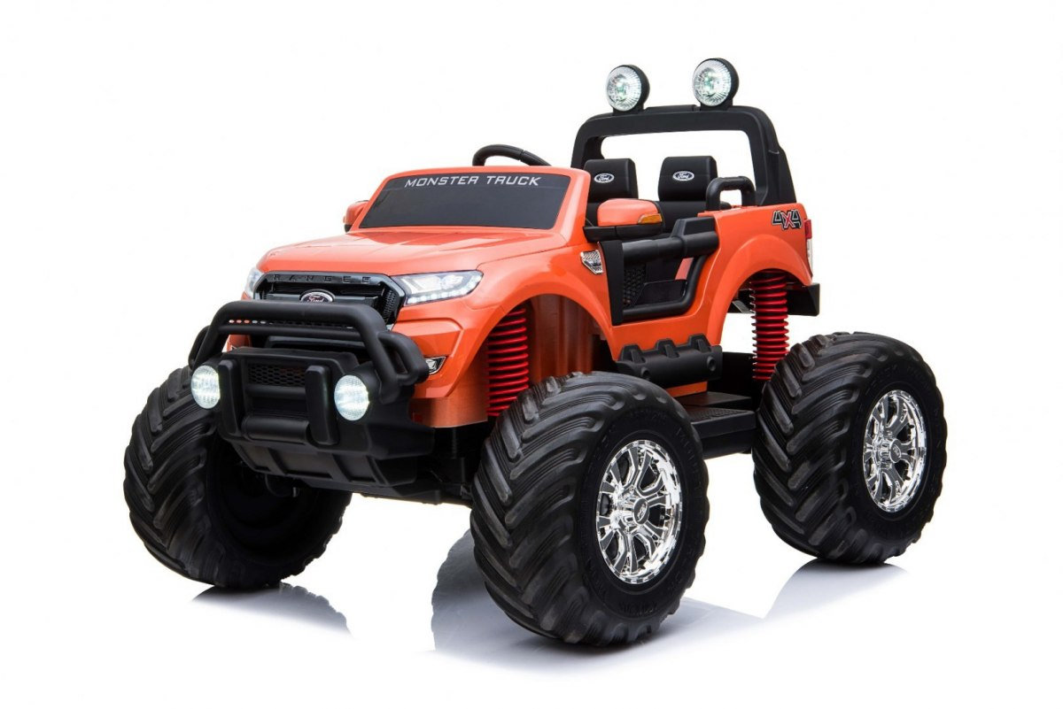 Elektrické autíčko Ford Ranger Monster Truck 4x4 - oranžové