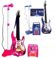 Dětská elektrická kytara s mikrofonem