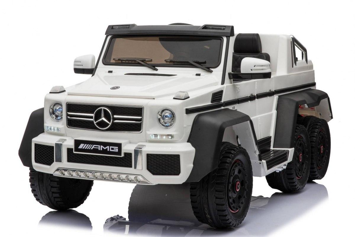 Beneo Elektrické autíčko Mercedes-Benz G63 6X6 - bilé
