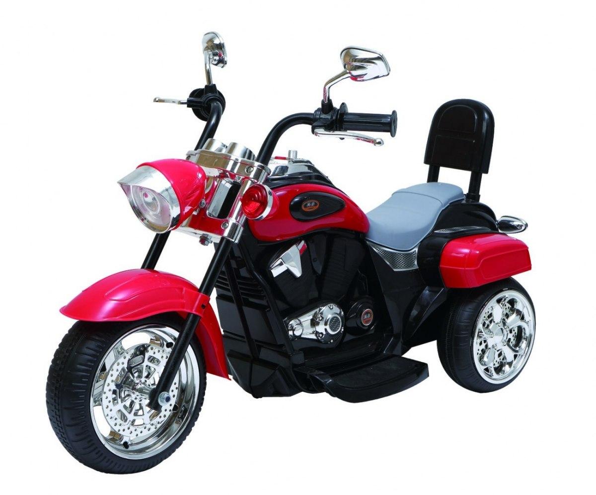 Elektrická motorka Chopper - červená