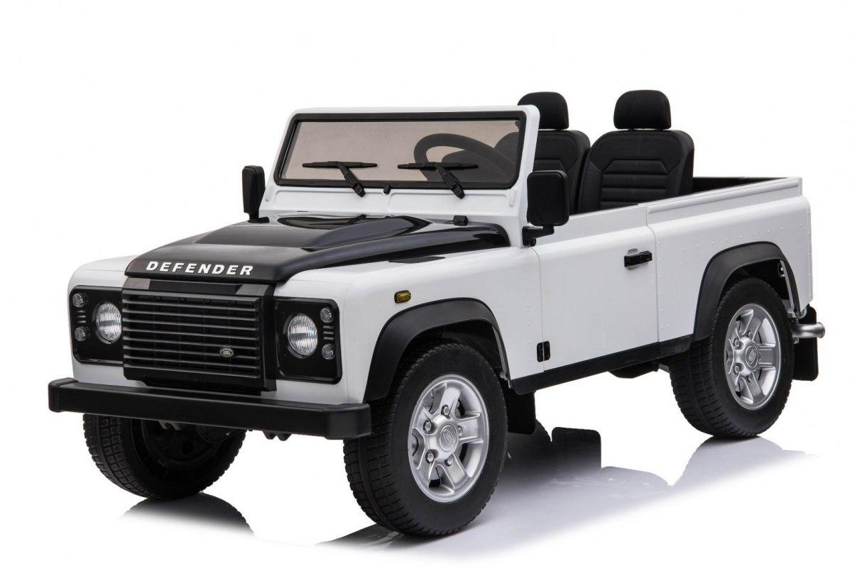 Beneo Elektrické autíčko Land Rover Defender - bílé