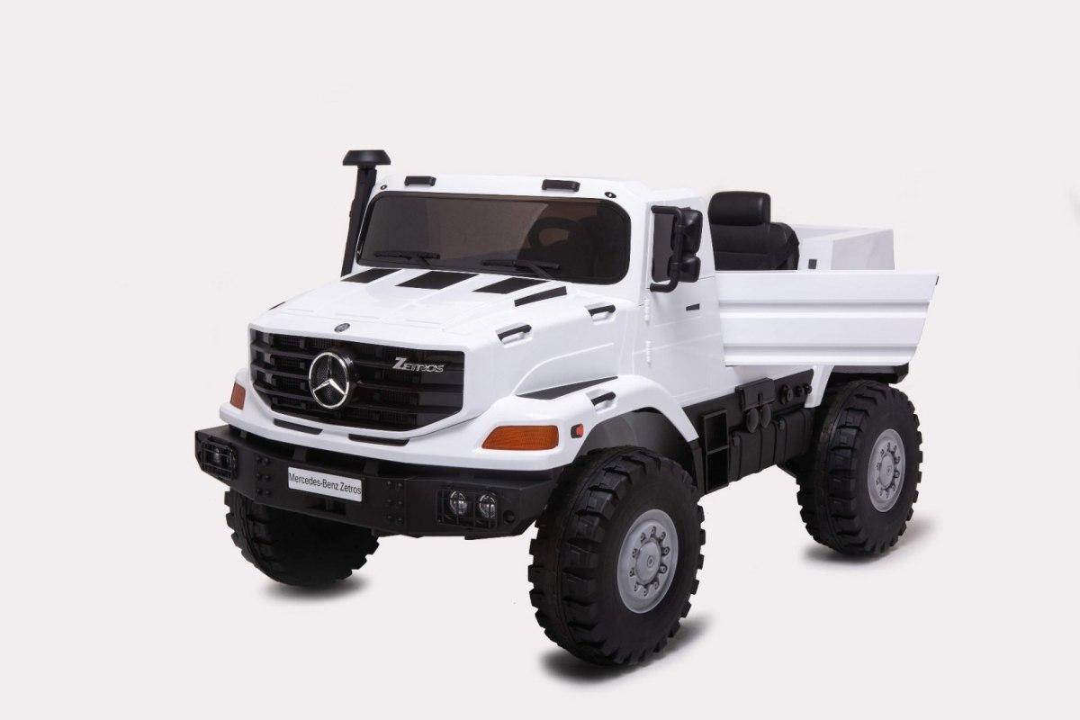 Elektrické autíčko Mercedes-Benz Zetros - bílé