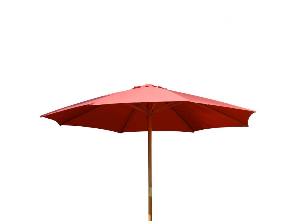 Zahradní slunečník Poly 3 m PATIO - červený