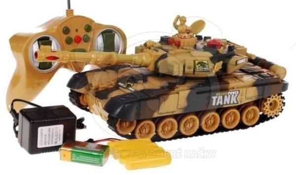 RC tank, 34 cm, zvuk - hnědý