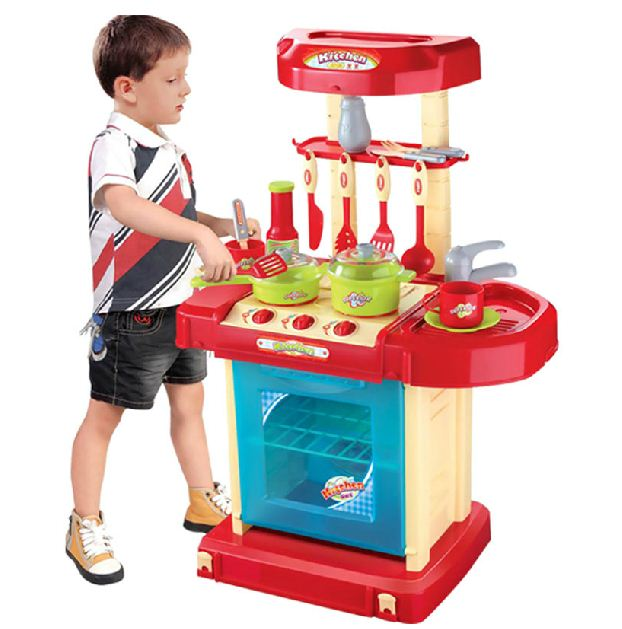 Dětská interaktivní kuchyňka v kufříku