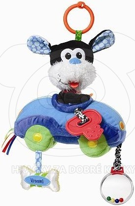 Infantino Plyšové kousátko autíčko s pejskem