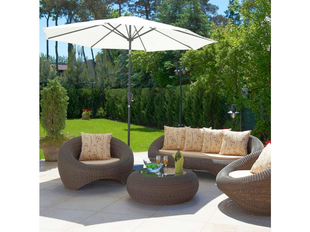 Hliníkový zahradní slunečník 3m PATIO