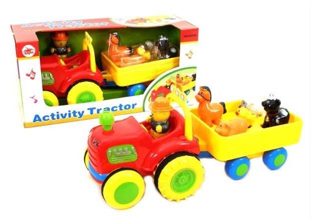 Playme Traktor s farmářem a zvířátky