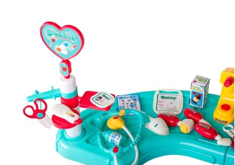 Dětský lékařský stůl s příslušenstvím
