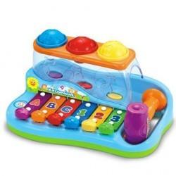 Dětský xylofon s kladivem a míčky