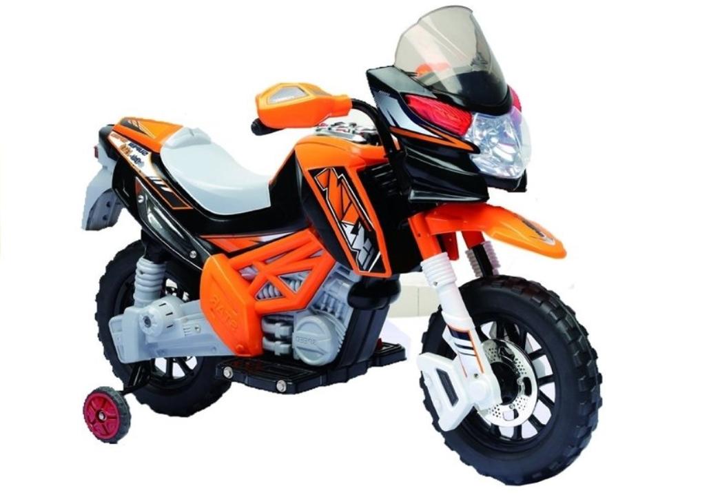 Dětská elektrická motorka J518 - oranžová