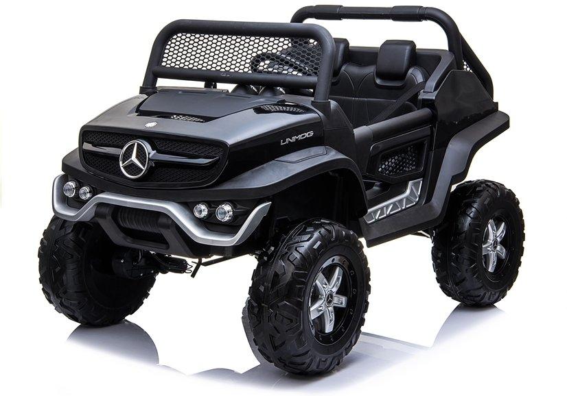 Elektrické autíčko Mercedes Unimog - černé