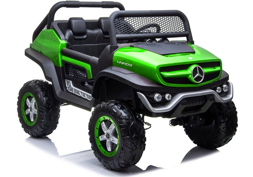 Elektrické autíčko Mercedes Unimog - zelené