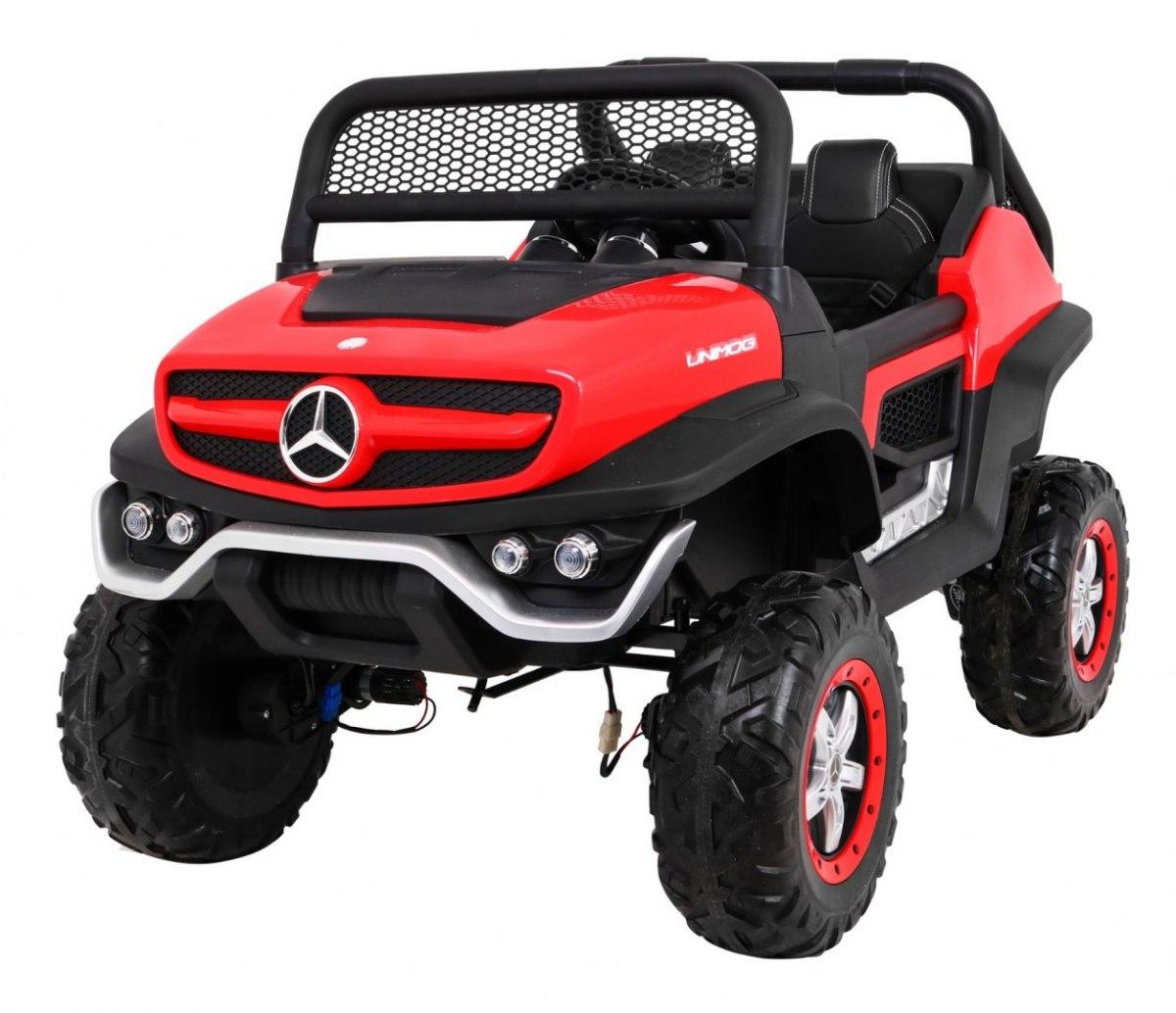 Elektrické autíčko Mercedes Unimog - červené