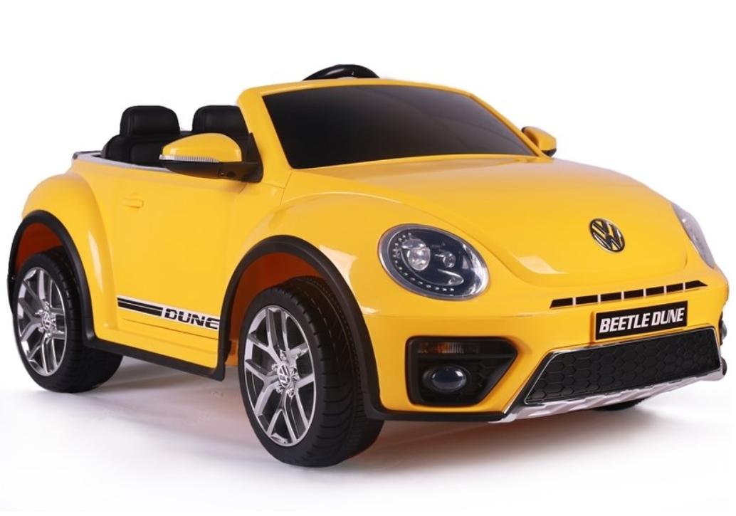 Elektrické autíčko VW Beetle Dune - žluté