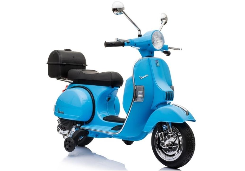 Dětská elektrická motorka Vespa - modrá